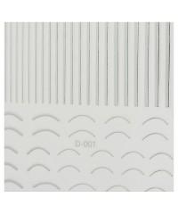 Ленты гибкие микс для дизайна серебро D-001