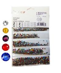 Стразы для дизайна 1440шт (стекло микс размеров и цветов SS2/3/4/5/8)