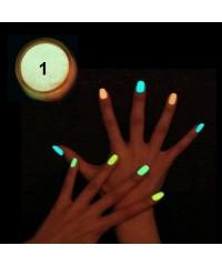 Порошок люминофор (светится в темноте)  для дизайна ногтей, 01
