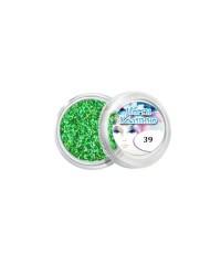 Блёстки для дизайна ногтей (насыщенно-зелёные), 039