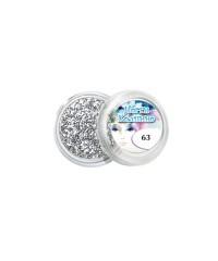 Блёстки для дизайна ногтей (серебро), 063