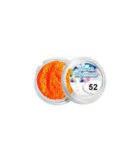 Блёстки для дизайна ногтей (ярко-оранжевые), 052