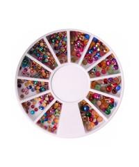 Заклёпки цветные (микс 01) в карусельке