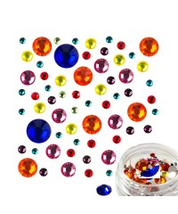 Стразы стекло микс цветов и размеров в баночке №2