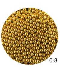 Бисер металлический в пакете (золото) диаметр 0,8