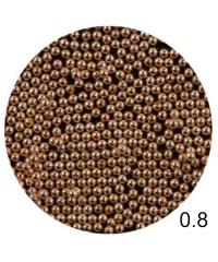 Бисер металлический в пакете (розовое золото) диаметр 0,8