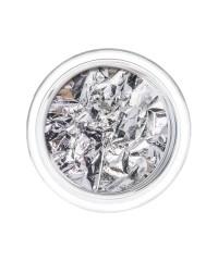 Фольга отрывная Сусальное золото в пластиковой баночке СЕРЕБРО 16