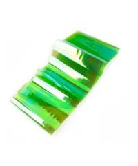 """Декор """"Битое стекло"""" 5 см X 19,5 см, №2, зелёное"""