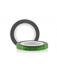 Лента для дизайна ногтей (зелёная), 20 метров