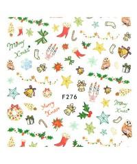 Наклейки ультратонкие Новый год Д258-00-08 (F-276)