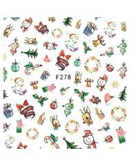 Наклейки ультратонкие Новый год Д258-00-12 (F-278)