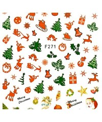 Наклейки ультратонкие Новый год Д258-00-14 (F-271)
