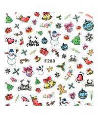 Наклейки ультратонкие Новый год Д258-00-09 (F-280)
