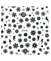Наклейки ультратонкие Новый год Д258-00-02 (F-270)