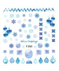 Наклейки ультратонкие Новый год Д258-00-07 (F-285)