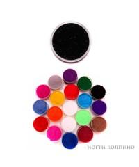 Бархатный песок (чёрный) 07