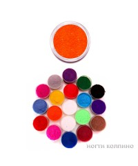 Бархатный песок (оранжевый) 02