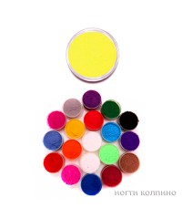 Бархатный песок (жёлтый) 04