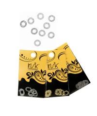 Декоративная рамка, 10 шт.  (Круг 03 серебро)