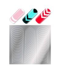 Трафареты для дизайна ногтей MILV