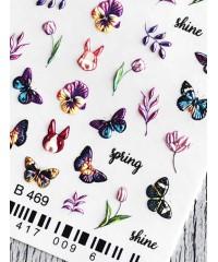 Слайдер 3Д бабочки B469