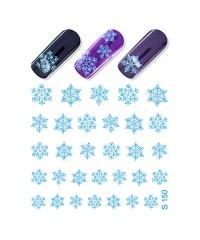 Слайдер Снежинки S150 голубые