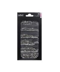 Стразы Runail черные 6 размеров мм, 1728 шт