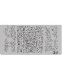 Пластина для стемпинга металлическая на пластиковой основе 12x6 см №20