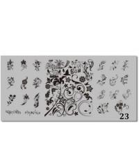 Пластина для стемпинга металлическая на пластиковой основе 12x6 см №23