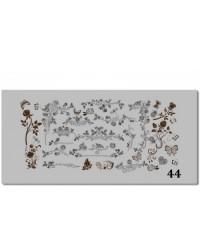 Пластина для стемпинга металлическая на пластиковой основе 12x6 см №44