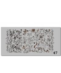 Пластина для стемпинга металлическая на пластиковой основе 12x6 см №47
