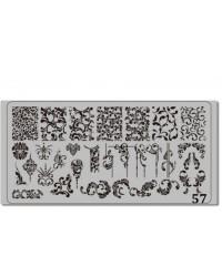 Пластина для стемпинга металлическая на пластиковой основе 12x6 см №57