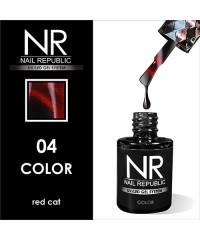 Гель-лак Nail Republic CAT-04, Red 10 мл.