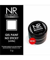 Гелевая краска Nail Republic без липкого слоя белая, 5гр