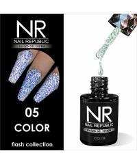 Гель-лак светоотражающий Nail Republic Flash №05, голубой 10 мл.