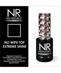 Верхнее покрытие без липкого слоя NO WIPE TOP EXTREME SHINE Nail Republic, 10 мл