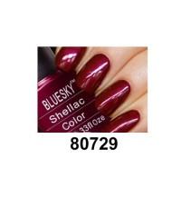 Гель-лак Shellac Bluesky 80729 (бордовый, перламутровый)