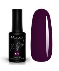 Гель-лак X-GEL №176 темно фиолетовый, 8мл