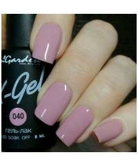 Гель-лак X-GEL №40 дымчато-розового оттенка, 8мл