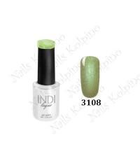 Гель-лак INDI 3108, светло-зеленый, перламутровый