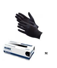 Перчатки нитриловые неопудренные Nitrimax черные (размер M), 50 пар