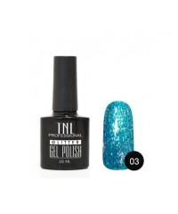 "Гель-лак ""TNL - Glitter"" №03 - Голубой (10 мл.)"