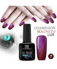 """Гель-лак """"TNL - magnet lux"""" №07 - малиново-вишнёвый с блестками (10 мл.)"""