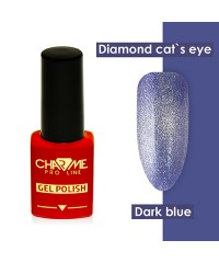 Гель-лак ШАРМ Diamond cat's eye gel polish dark blue