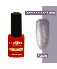 Гель-лак ШАРМ Diamond cat's eye gel purple