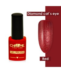 Гель-лак ШАРМ Diamond cat's eye gel red