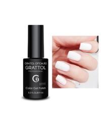 Гель-лак GRATTOL 01 White, белый