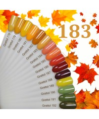 Гель-лак GRATTOL 183 Yellow Orange (Желтый Апельсин)