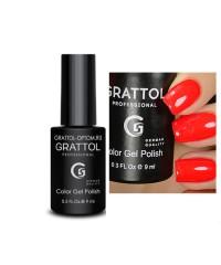 Гель-лак GRATTOL 30 Bright Red (Ярко красный)
