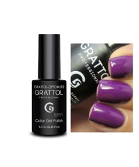 Гель-лак GRATTOL 54 Dark Purple (Темно-пурпурный)